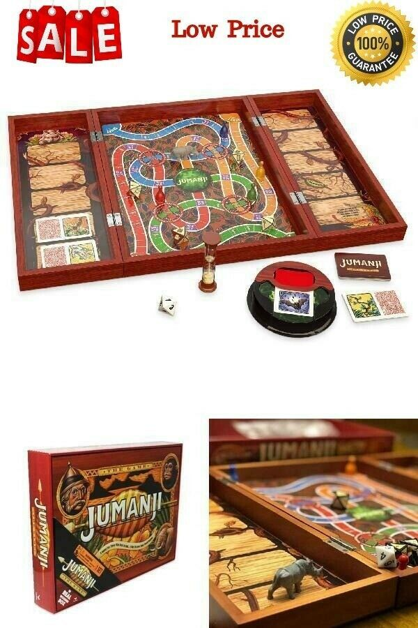 Primary image for Deluxe Jumanji Classic Retro Board Game Real Wooden Box Toys Puzzle Family Party