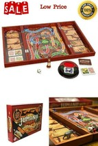 Deluxe Jumanji Classic Retro Board Game Real Wooden Box Toys Puzzle Fami... - $29.93
