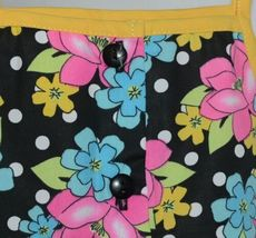 Mon Petit Yellow Black Flowered Babydoll Top Bloomers Elastic Headband 24 Month image 4
