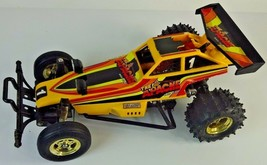 """Vintage Yellow 1986 New Bright """"The Apache"""" Race Team Buggy - Toy Race Car - $33.14"""