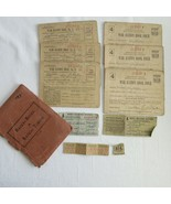 WWII Ration Books Father Mother Daughter Calif  Sequence Books 3, 4 extras - $14.54