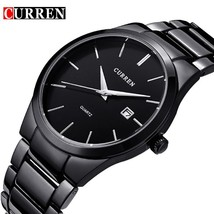 CURREN Quartz Watch Men Top Brand Military Wrist Watches MEN Full Steel Business - $41.31
