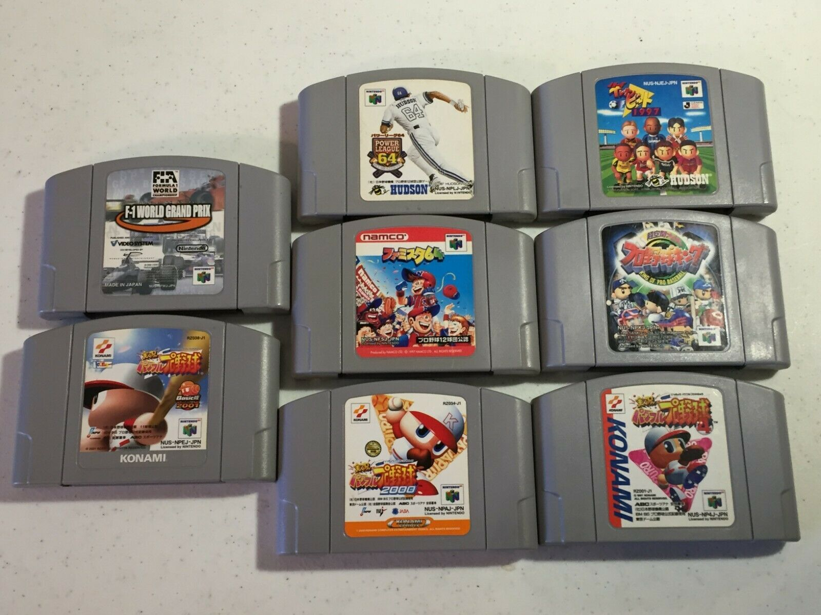 Japanese Nintendo 64 N64 Game bundle lot of 8 games pro baseball power league...