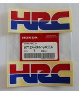 BLACK 100/% GENUINE 1 x HONDA REPSOL STICKERS DECALS 90mm ORANGE