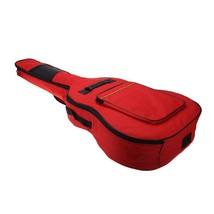Guitar Bag Soft Case 41in Double Shoulder Straps Backpack Musical Red Po... - $22.34