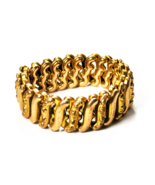 DFB Co Gold Filled Carmen Expandable Stretch Bracelet 15mm Sweetheart - $49.49