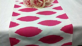 FUCHSIA IKAT TABLE Linens - candy pink fuchsia on white Ikat napkins, pl... - $12.00