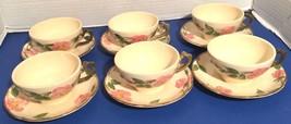 Franciscan Desert Rose USA 6 cups & saucers lot un-used vintage - $32.73