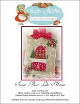 Snow Place Like Home snowglobe Christmas cross stitch Sugar Stitches Des... - $6.00