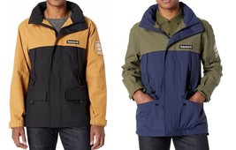 Mens Timberland Color Block Jacket - Black Iris/Grape Leaf & Black/Wheat - $129.99