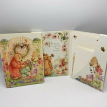 Mary Hamilton Bear Stationery Portfolio Lot of 2 New Used Hallmark Honey... - $45.00