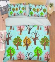 3D Trees Animals Bed Pillowcases Quilt Duvet Cover Set Single Queen King Size AU - $90.04+