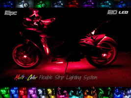 12pc Wireless All Color Flexible 120 LED Motorcycle Lighting Kit 360 Motorbike - $108.90