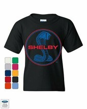 Shelby Cobra Ford Mustang Youth T-Shirt American Muscle Ford Racing Kids... - $10.89+