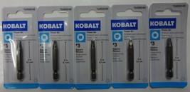 "KOBALT 1873428 #3 Power Screw Bit Square Recess 2"" Long 5pcs - $3.96"