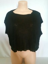 Forever 21 Solid Black Thin Sheer Tank Top Size Medium Oversized Loose Fit - $9.50