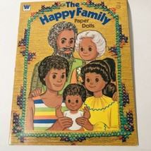 1977 WHITMAN UNUSED The HAPPY FAMILY PAPER DOLL BOOKLET * MATTEL TOYS  - $9.90