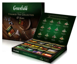 Greenfield Russian Tea Collection Gift Box 12 varietals 60 pyramids 3.88... - $24.74