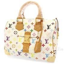 LOUIS VUITTON Speedy 30 Multicolor Blanc Handbag M92643 France Authentic 5460397 - $1,746.93