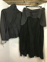 Ivan Grundahl Denim Black Jacket Long Skirt Sz 44 Copenhagen Barneys New York image 3