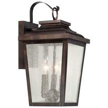 Irvington Manor 3-Light Chelsea Bronze Outdoor Wall Lantern Sconce - $168.29