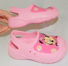 Disney Toddler Minnie Mouse Pink Rubber Slingback Clog Shoes Girls Toddl... - $5.93