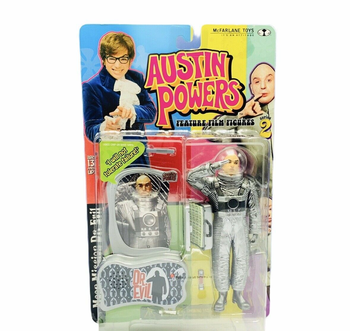 Primary image for Austin Powers action figure toy Mcfarlane Mike Myers Dr Evil tolerate failure