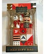 FAO Schwarz Toy Soldier Bear Christmas Ornament Hand Blown Glass NIB - $18.99