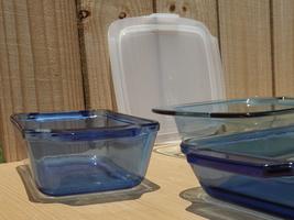 4 pcs Blue Anchor Hocking & Pyrex Bakeware Set: Square, Rectangle & Meat... - $58.00