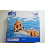 "Flip Pillow Lounge Pool Float Chair Lake Vacation Open Water Swim 40""x37"" - $16.40"