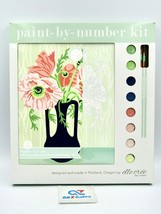 """POPPIES IN A VASE Paint By Number Kit By Elle Cree, 8""""x10"""" - New in Box - $24.70"""