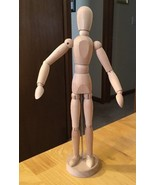 "IKEA GESTALTA Artist's Figure Natural 13"" WOODEN POSABLE BENDABLE FIGURE - $18.69"