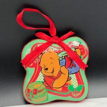 WINNIE POOH CHRISTMAS ORNAMENT Walt Disney figurine vintage glass holida... - $29.65