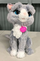 """Furreal Friends Gray Animated Battery Op 12"""" Cat Kitten SEE VIDEO - $17.99"""