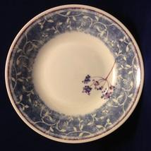 2 PIER 1 Blueberry Spray Soup Cereal Salad Bowls Earthenware England Blu... - $19.79