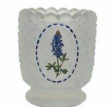 Viking glass cup goblet candleholder usa lilac flower floral candle holder art - $19.69