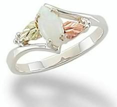 Landstoms MRLLR2948 070 Black Hills Gold Silver Opal Ring - Size 7 - $75.24