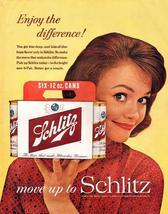Vintage Ad   Schlitz Beer  Enjoy The Differance!       2.5 x 3.5  Fridge... - $3.99