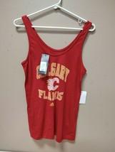 New Adidas NHL Calgary Flames Tank Top Womens Red Medium CC5447 - $9.50
