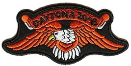 Daytona 2016 Orange Eagle Embroidered Iron-On Patch For Daytona Bike Wee... - $8.50