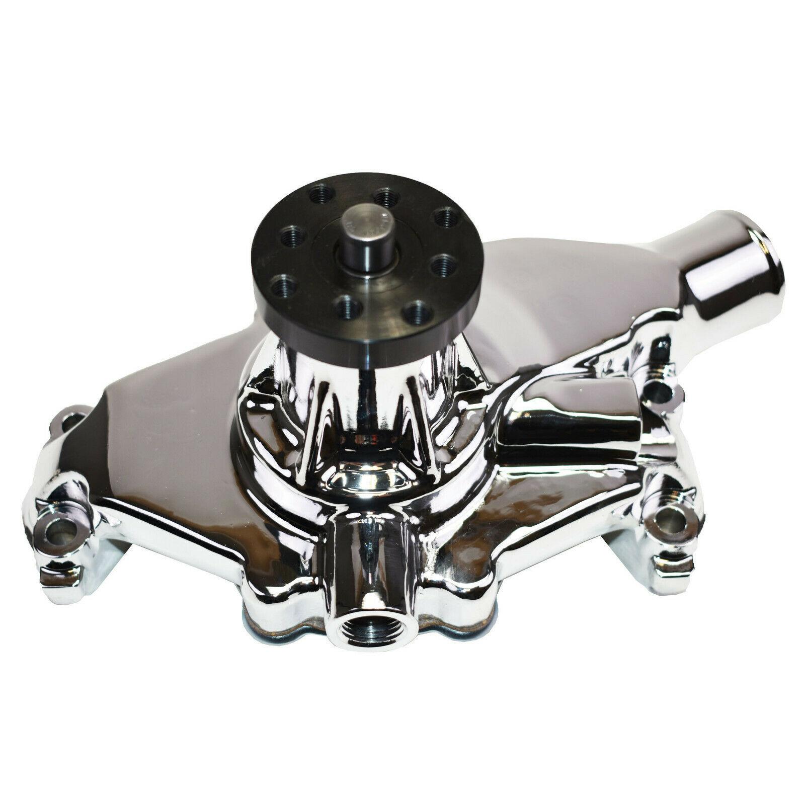 "GM SBC SWP 265 267 283 350 8-Blade Aluminum 5/8"" High Volume Chrome Water Pump"