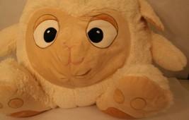 EXTRA-LARGE Hug & Luv Off-white/cream Sheep Lamb Bed Back Pillow Plush 2... - $124.95