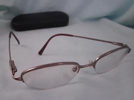 002c29a82d NIKON Rx Eyeglasses Metal Frames NT6013 0593 Half Rim Oval Brown Red TIT.