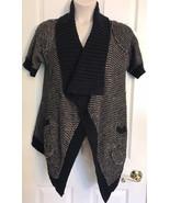 Curio Sweater Cardigan Open Front Knit STOLLE WRAP Sz Medium - $13.99