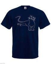 Mens T-Shirt Cute Relaxing Cat, Funny Kitty TShirt, Relaxed Kitten Shirt - $24.74