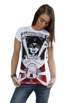 Cardboard Robot Donna Cristallo Bianco Sfera Future Taglio World T-Shirt S Nwt