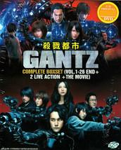Gantz Complete DVD Box Set (Vol.1-26 + Movie + 2 Live Action)
