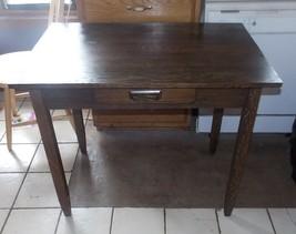 Solid Oak Mission Desk with Drawer  (RP) - $499.00