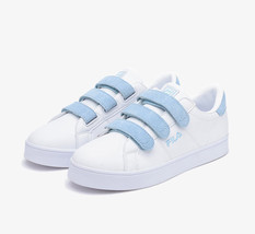FILA Blue White Suede Sneakers Court Delux Cotton Candy Velcro Shoes FS1... - $85.00