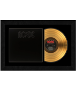 """""""Back In Black"""" by AC DC 17 x 26 Framed 24kt Gold Album with Album Cover  - $198.95"""